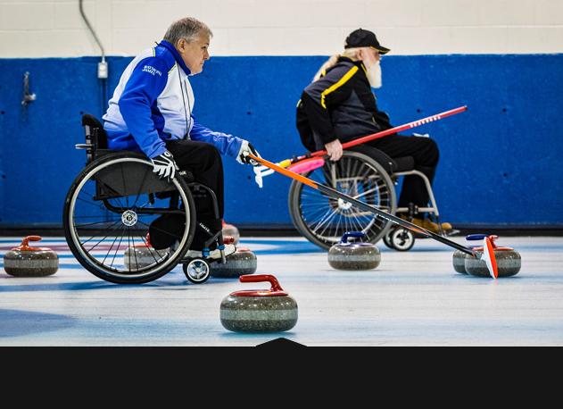 Curling en fauteuil roulant 1