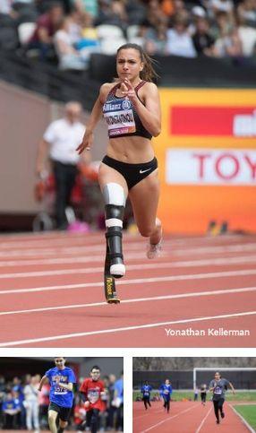 mosaique 3 athlète de course de paraathlétisme